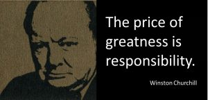 Churchill quote - responsibility